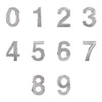 0910 - 숫자 이니셜 은색 70mm