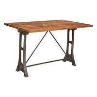 CAST IRON TABLE WITH TEAK TOP (ANC-CIT-001)