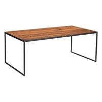IRON COFFEE TABLE WITH TEAK TOP (ANC-CT-W)