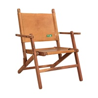 WOODEN LEATHER REST CHAIR (ANC-RC-001L)