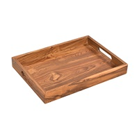 WOODEN TRAY WITH HANDLE (ANC-TR-003L)