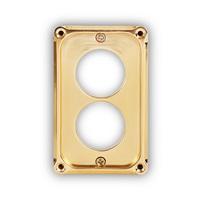 콘센트 커버 브라스 플레이트 (2구) / Two Point Outlet Plate Brass / MK-OUTPB